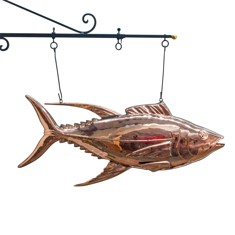 3d Tuna Fish: Tuna Fish Copper Trade Sign For Market 3d Restaurant Decor
