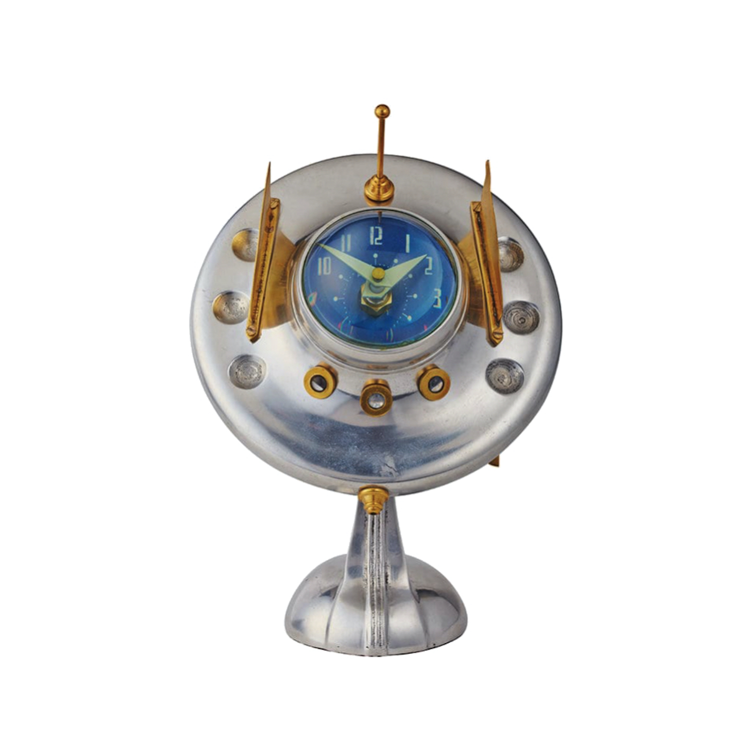 Sputnik Space Ship Table Clock UFO With Antenna Area 51 Style Fun Gift