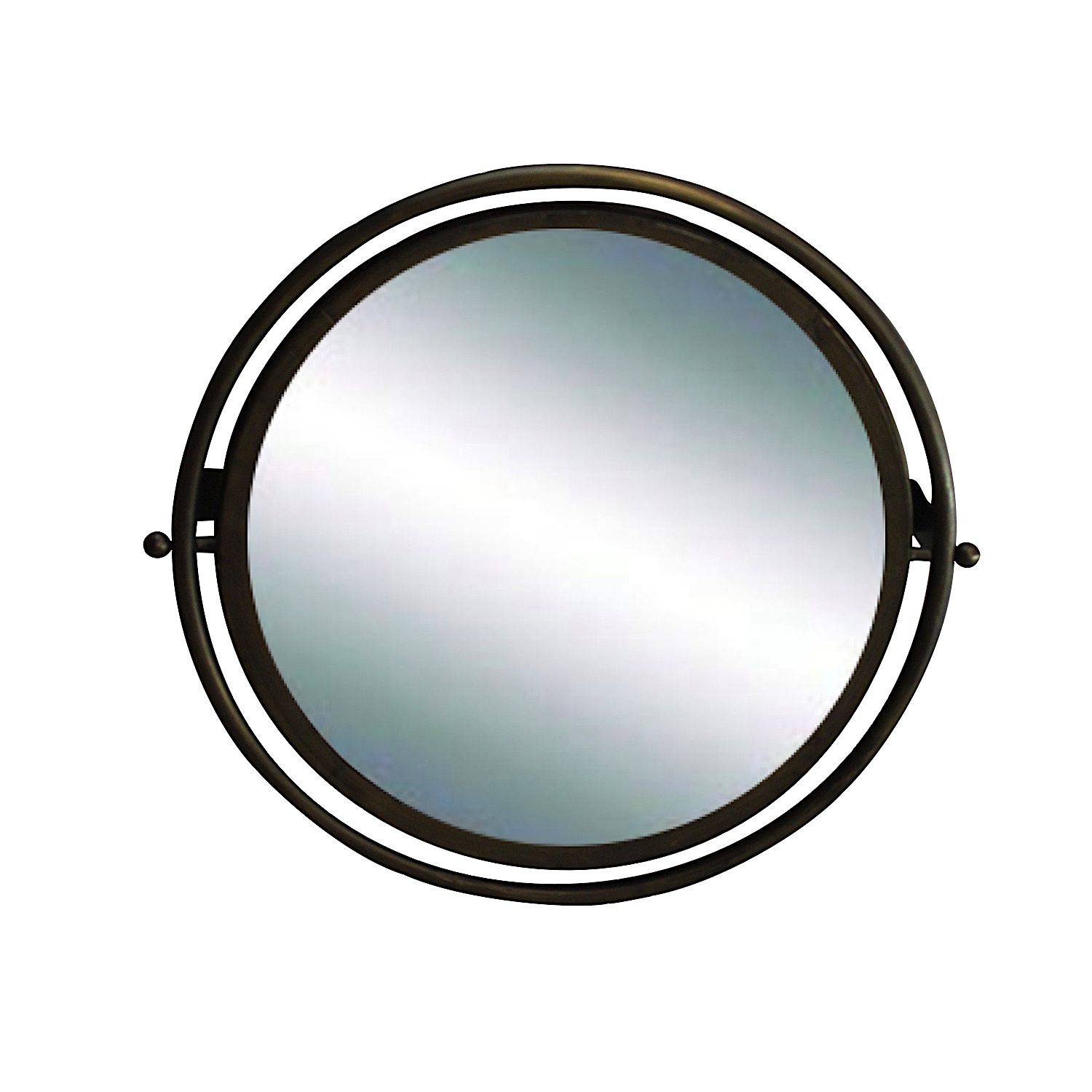 Circular Mirror In Painted Dark Aged Gold Finish Swivel Wall Mounted