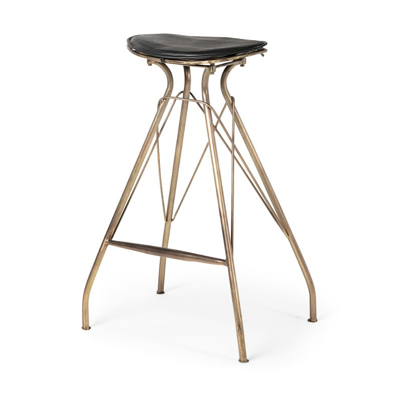 Admirable The Orville Danish Contemporary Modern Bar Stool Faux Leather Seat Ocoug Best Dining Table And Chair Ideas Images Ocougorg