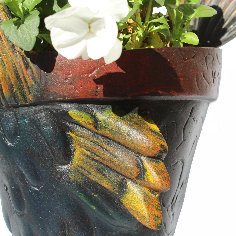 Road Runner Garden Flower Pot Chicken Run So Cute Metal Urn Roadrunner