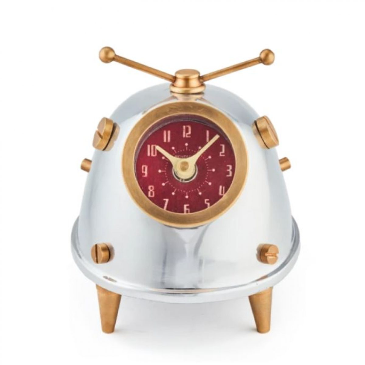 Lady Bug Space Age Desk Clock Modern Atomic Era Design The Kings Bay