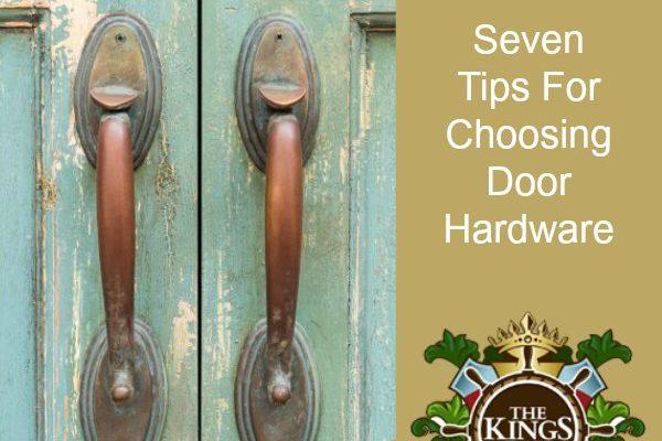Seven Tips For Choosing Door Hardware