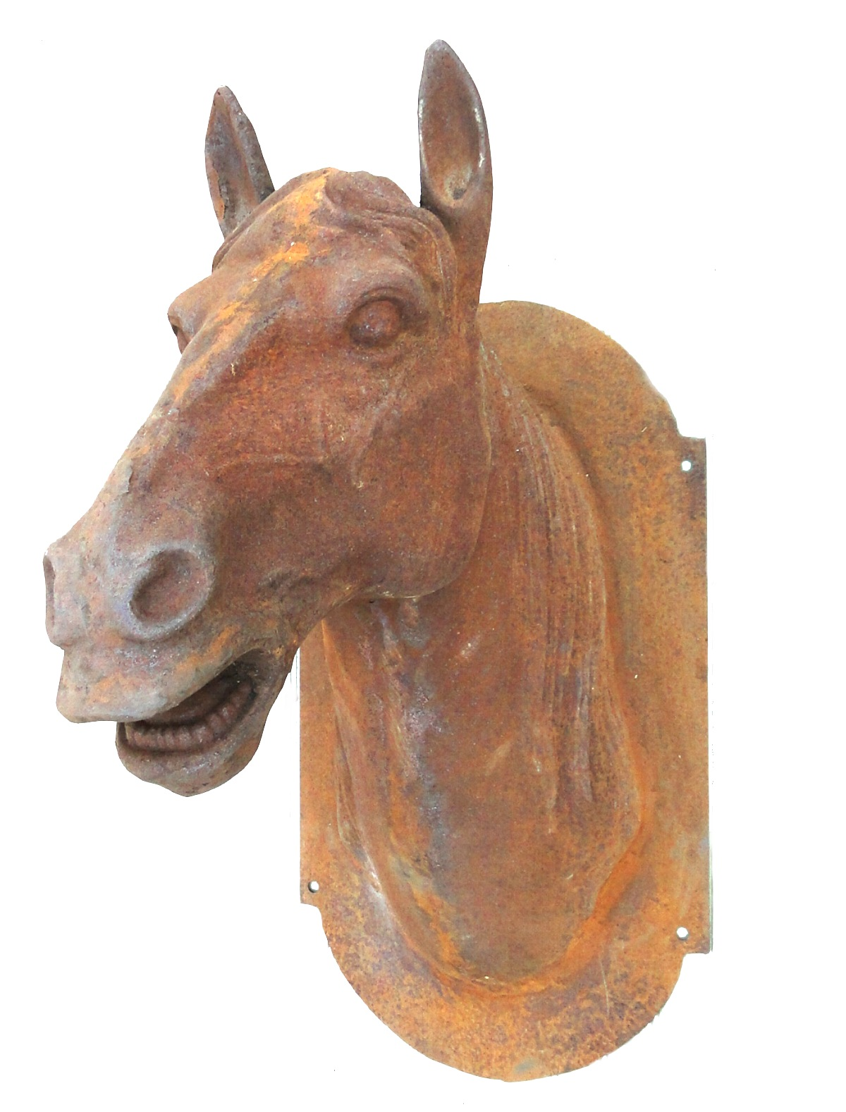 Cast Iron Horse Head Butcher Trade Sign Antique Style Life Size French The Kings Bay