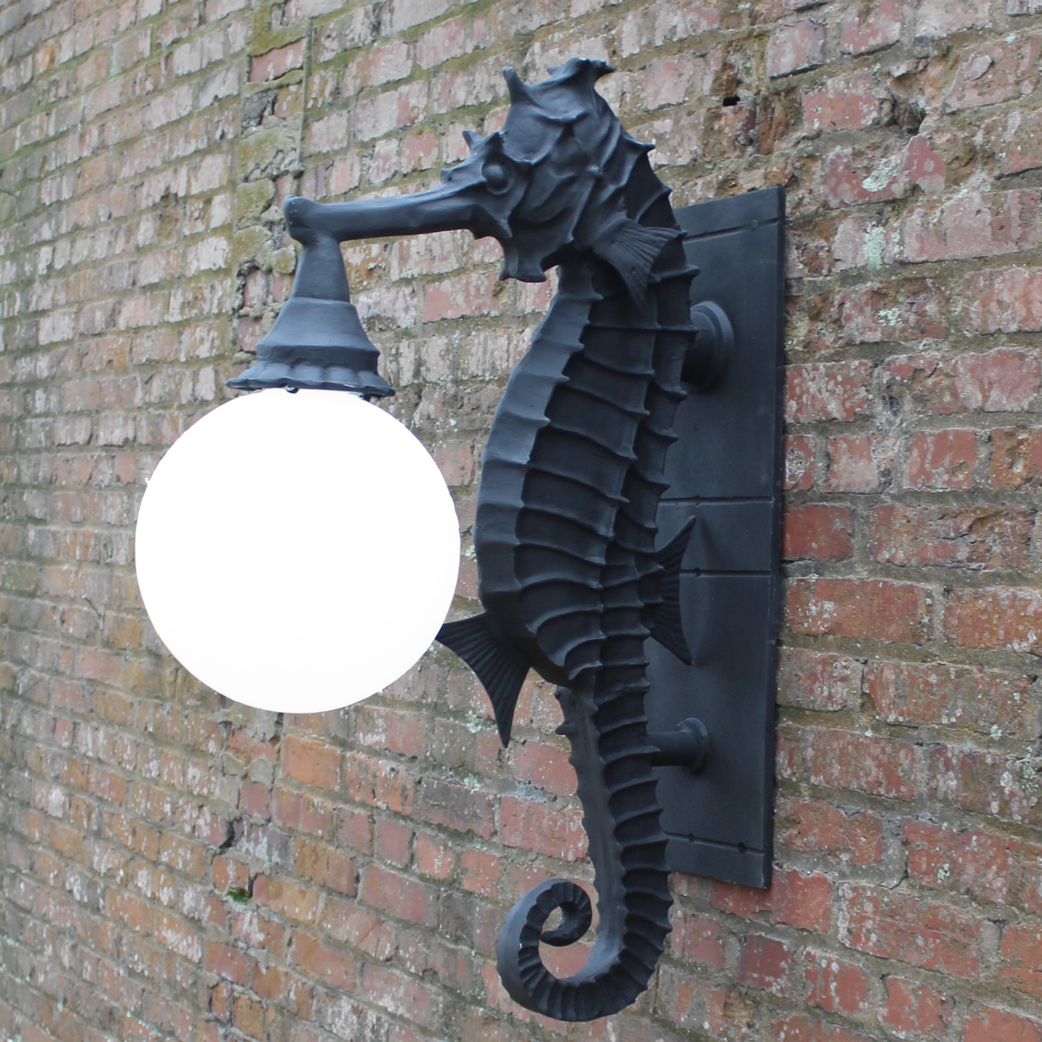 Sea Horse Wall Sconce Light Nautical Outdoor Fixture Commercial Or Residential The Kings Bay