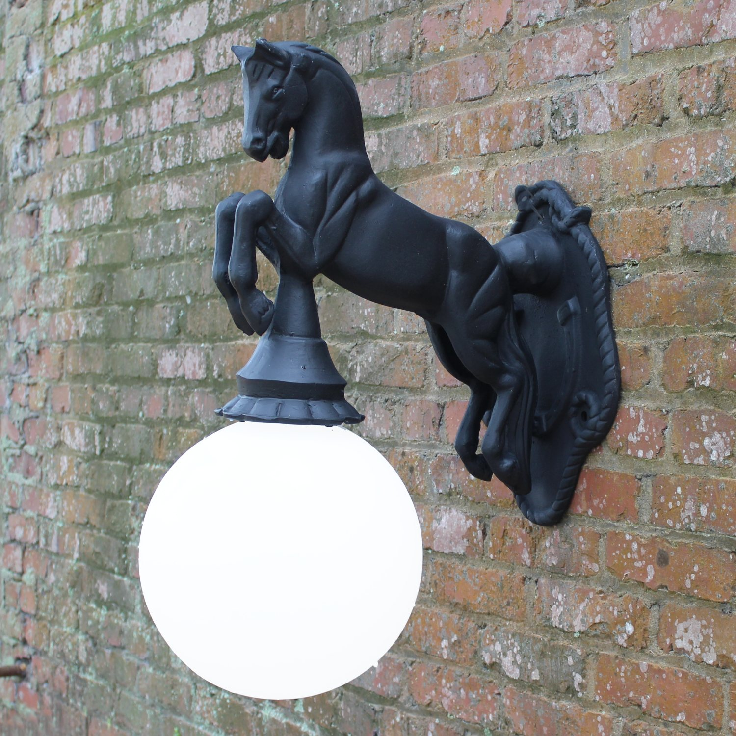 Equestrian Horse Wall Sconce Light Indoor or Outdoor ... on Non Lighting Sconces id=65801