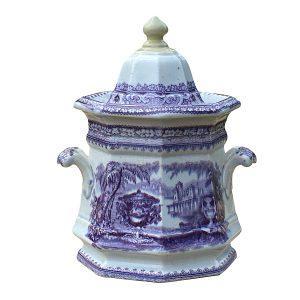 Podmore and Walker Sugar Jar Mulberry Black Washington Vase Pattern