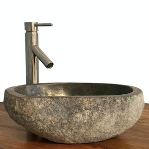 Granite Vessel Sink Stone Boulder Bathroom Counter Top Vanity Fixture SNVS20