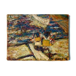 Impressionist Impasto Painting by Judge Sensational Brush Strokes Boat Fish