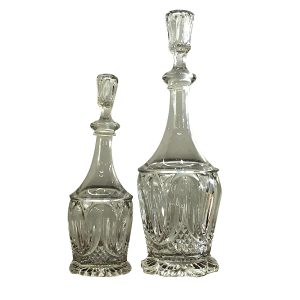 Tulip and Sawtooth Bryce Richards Flint Glass Decanter Set