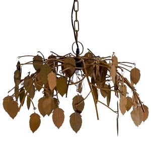 Leaf Pendant Chandelier Shabby Chic Nature Tree Arborist Style