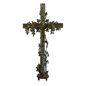 Huge Jesus Antique Cast Iron Cross For Garden