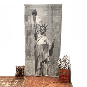 Statue of Liberty Giant Wall Canvas from Black and White Photo