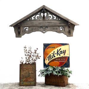 Pediment Corbel Bracket for Headboard or Above Door Tin Wood