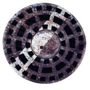 Printed Faux Sewer Drain Cover Floor Mat