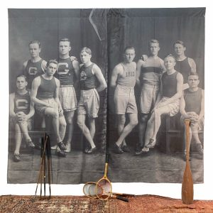 Giant 1910 Black and White Photo Canvas Panels Sports Team 8.5 Foot
