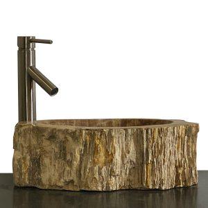 Bathroom Counter Top Petrified Wood Vessel Basin Sink NX 33
