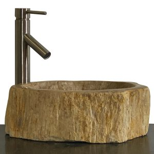 Bathroom Counter Top Petrified Wood Vessel Basin Sink NX 34