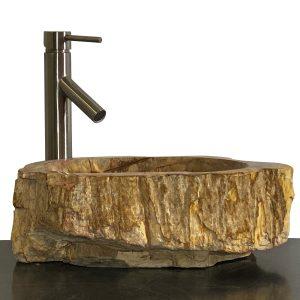 Bathroom Counter Top Petrified Wood Vessel Basin Sink NX 31