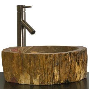 Bathroom Counter Top Petrified Wood Vessel Basin Sink NX 30