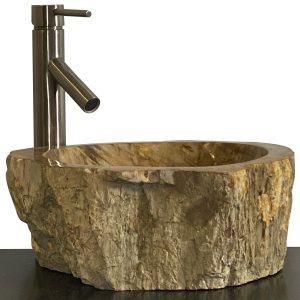 Bathroom Counter Top Petrified Wood Vessel Basin Sink NX 39