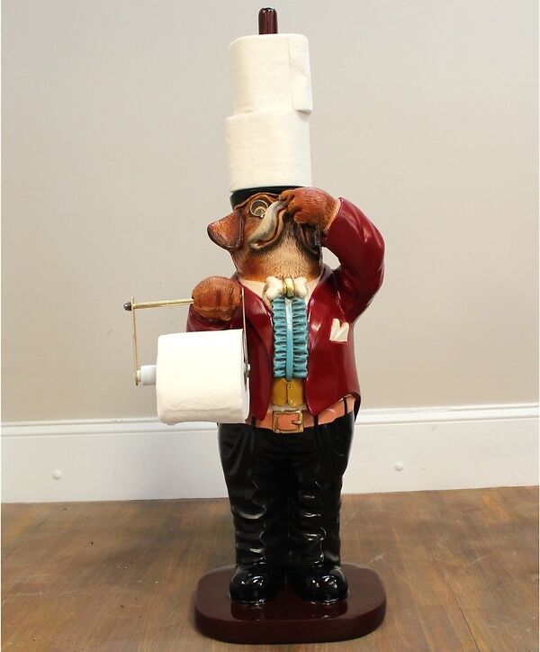 This cheeky toilet paper holder is as useful as it is eccentric